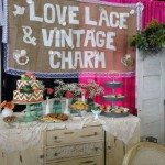 love lace & vintage charm at Bridal show