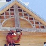 Gary attaching chapel GAble