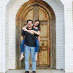 Matt and Jenn in front of chapel door